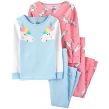 """Детская пижама для девочки из 4 предметов """"Встреча с единорогом"""""""
