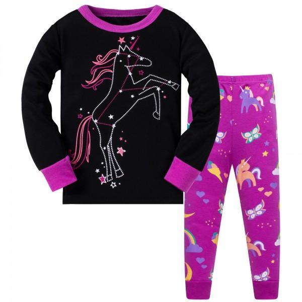 """Детская пижама для девочки из 2 предметов """"Созвездие единорога"""""""