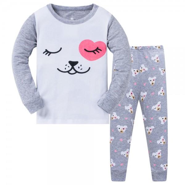 """Детская пижама для девочки из 2 предметов """"Любимые пёсики"""""""