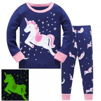 """Детская пижама для девочки из 2 предметов """"Звездный единорог"""""""