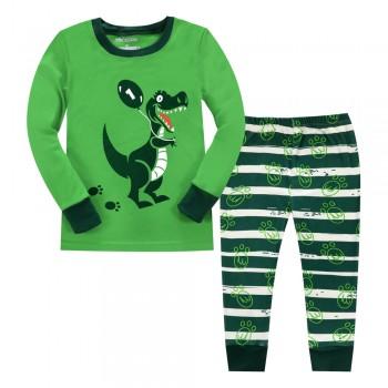 """Детская пижама для мальчика из 2 предметов """"Динозавр с шариком"""""""