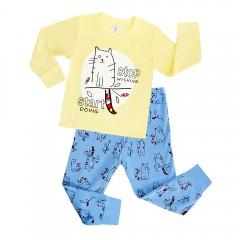 """Детская пижама для мальчика из 2 предметов """"Забавный котя"""""""