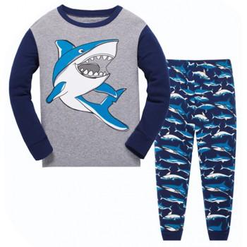 """Детская пижама для мальчика из 2 предметов """"Опасная акула"""""""