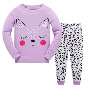 """Детская пижама для девочки из 2 предметов """"Сонная кошечка"""""""