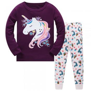 """Детская пижама для девочки из 2 предметов """"Единорог и мороженное"""""""