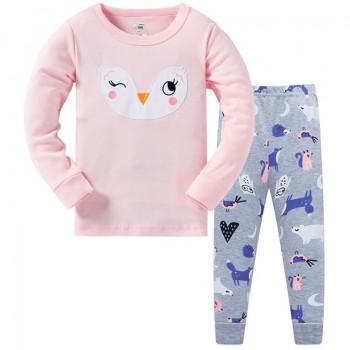 """Детская пижама для девочки из 2 предметов """"Любимая совушка"""""""
