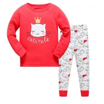 """Детская пижама для девочки из 2 предметов """"Принцесса кошечка"""""""