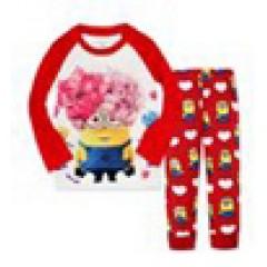 """Детская пижама для девочки из 2 предметов красная """"Гадкий Я. Красотка"""""""