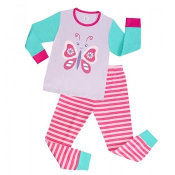 """Детская пижама для девочки из 2 предметов """"Милашка бабочка"""""""