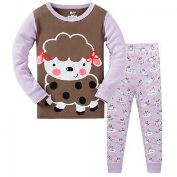 """Детская пижама для девочки из 2 предметов """"Милашка овечка"""""""