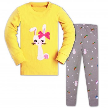"""Детская пижама для девочки из 2 предметов """"Милашка зайка"""""""
