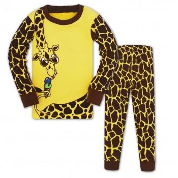 """Детская пижама для девочки из 2 предметов """"Милашка жирафа"""""""