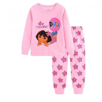 """Детская пижама для девочки из 2 предметов """"Даша-путешественница. Ты мне нравишься"""""""