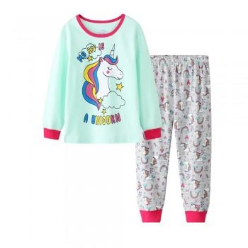 """Детская пижама для девочки из 2 предметов """"Единорог мой лучший друг"""""""