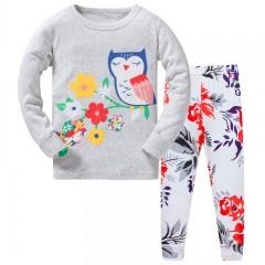 """Детская пижама для девочки из 2 предметов """"Цветочная сова"""""""
