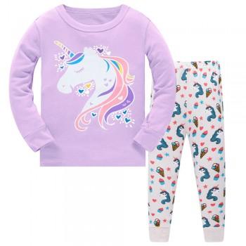 """Детская пижама для девочки из 2 предметов """"Единорог и мороженное - 2"""""""