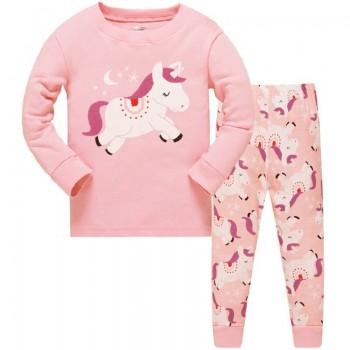 """Детская пижама для девочки из 2 предметов """"Малышка единорог"""""""