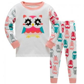 """Детская пижама для девочки из 2 предметов """"Красочная сова"""""""