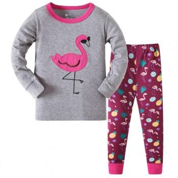 """Детская пижама для девочки из 2 предметов """"Розовый фламинго"""""""