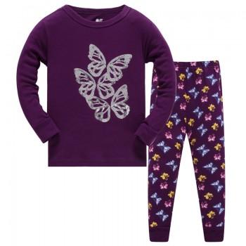 """Детская пижама для девочки из 2 предметов """"Блестящая бабочка"""""""