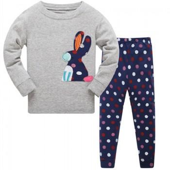 """Детская пижама для девочки из 2 предметов """"Красочная зайка"""""""