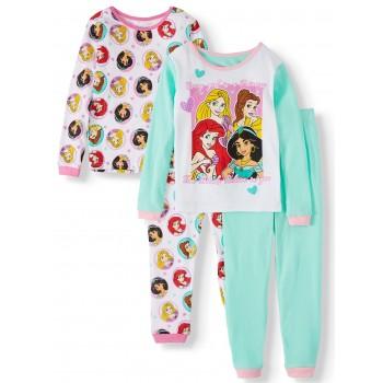 """Детская пижама для девочки из 4 предметов """"Каждая девочка принцесса"""""""
