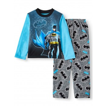 """Детская пижама микрофлисовая из 2 предметов для мальчика """"Бэтмен. Ночной герой"""""""