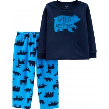 """Детская пижама микрофлисовая из 2 предметов для мальчика """"Северный медведь"""""""