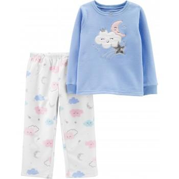 """Детская пижама микрофлисовая из 2 предметов для девочки """"Королевская звездочка"""""""