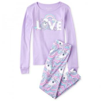 """Детская пижама для девочки из 2 предметов """"Любовь к единорогам"""""""
