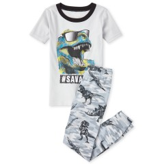 """Пижама из 2 предметов для мальчика """"Модный тирекс"""""""