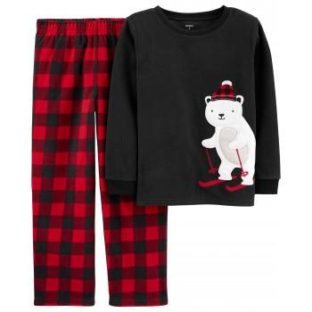 """Детская пижама микрофлисовая из 2 предметов для мальчика """"Канадский мишка"""""""