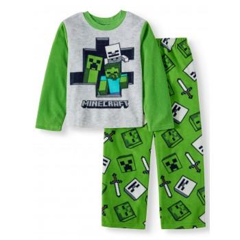"""Детская пижама микрофлисовая из 2 предметов для мальчика """"Майнкрафт. Привет"""""""