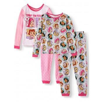 """Детская пижама для девочки из 4 предметов """"Сегодня я радостная"""""""