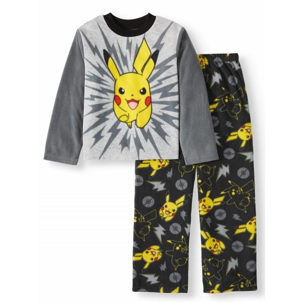 """Детская пижама микрофлисовая из 2 предметов для мальчика """"Покемоны. Пикачу"""""""