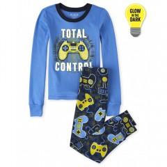 """Пижама из 2 предметов для мальчика синяя """"Полный контроль"""""""