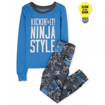 """Піжама з 2 предметів для хлопчика синя """"Стиль ніндзя"""""""