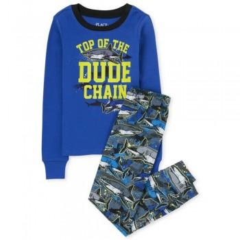"""Піжама з 2 предметів для хлопчика синя """"Крута акула"""""""