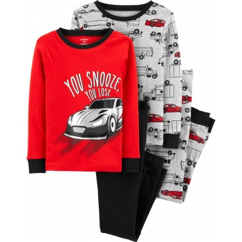 """Пижама из 4 предметов для мальчика """"Крутые машины"""""""