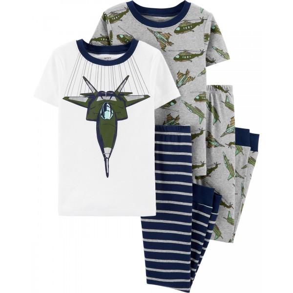"""Пижама из 4 предметов для мальчика """"Авионосец"""""""