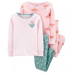 """Пижама из 4 предметов для девочки """"Сонный единорог"""""""