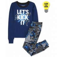 """Пижама из 2 предметов для мальчика синяя """"Будущий ниндзя"""""""