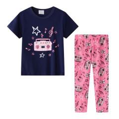"""Детская пижама для девочки из 2 предметов """"Шумная вечеринка"""""""