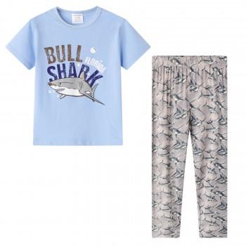"""Детская пижама для мальчика из 2 предметов """"Хищная акула"""""""