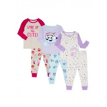 """Пижама детская из 6 предметов для девочки """"Сладкие сны"""""""