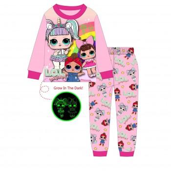 """Детская пижама для девочки из 2 предметов """"Веселые куклы. Радуга - 2"""""""