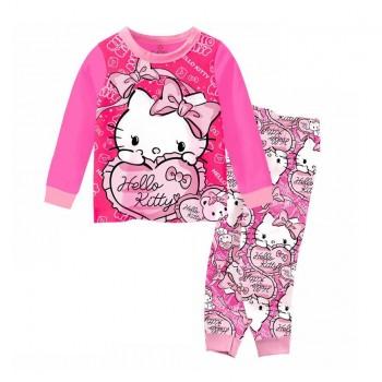 """Детская пижама для девочки из 2 предметов """"Хелло Китти. Моя валентинка"""""""