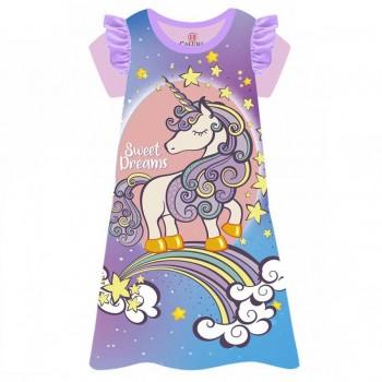 """Детская пижама - ночная рубашка для девочки """"Волшебный единорог"""""""