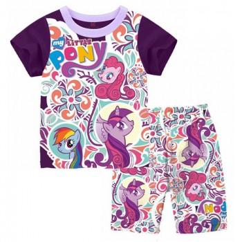 """Детская пижама для девочки из 2 предметов """"Мой маленький пони. Летнее настроение"""""""