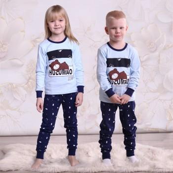 """Детская пижама для детей из 2 предметов """"Сонный мишка"""""""